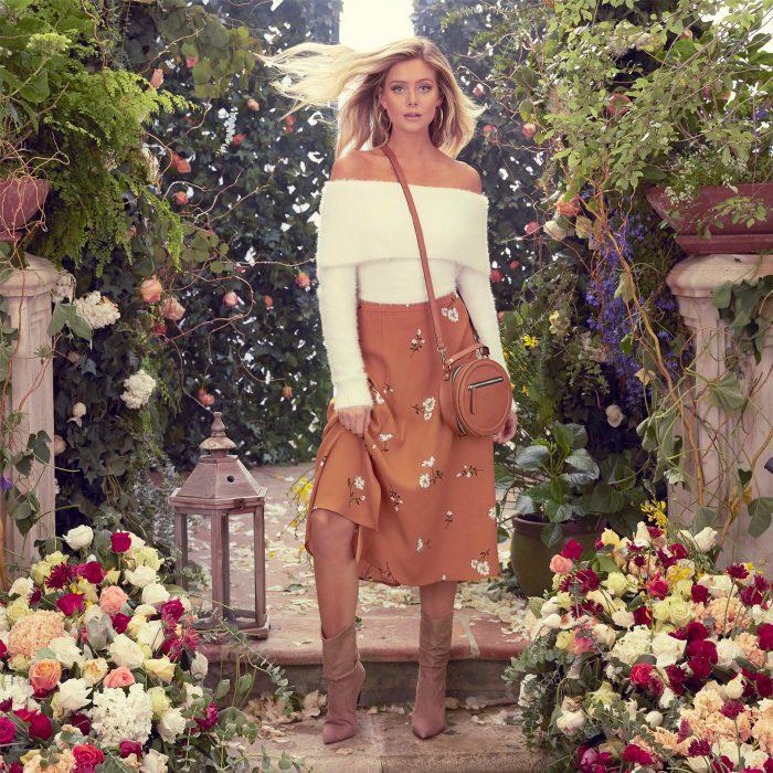 kensie women fashion shoot in garden